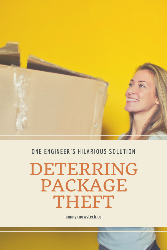 If you've got package thieves you want to scare away, you'll appreciate this engineer's ingenious solution. Though most of us probably lack the resources to make an exact replica, this video will have you laughing and get your mental gears turning to make your own solution!