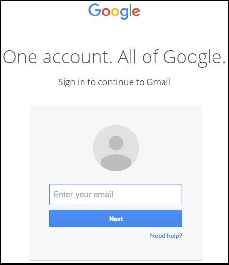 An example of a Google login screen from a phishing email