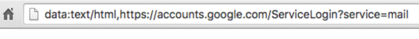 the browser bar from the phishing email login screen