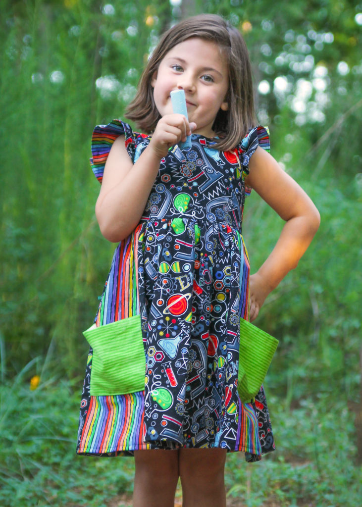 "STEM Stitchery's ""science dress,"" founder Angie Gehrt's favorite item."