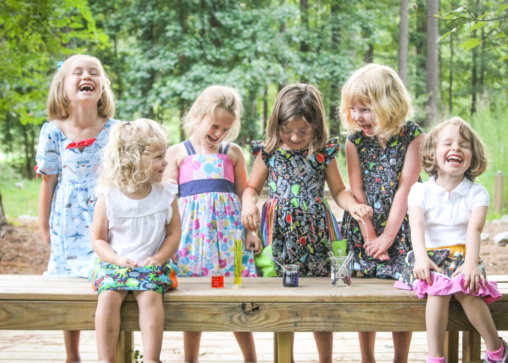 STEM Stitchery provides handmade, adorable, fun, and functional STEM clothing for girls