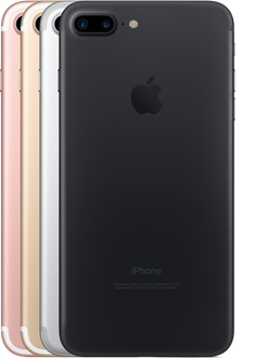 iPhone 7 Plus color options