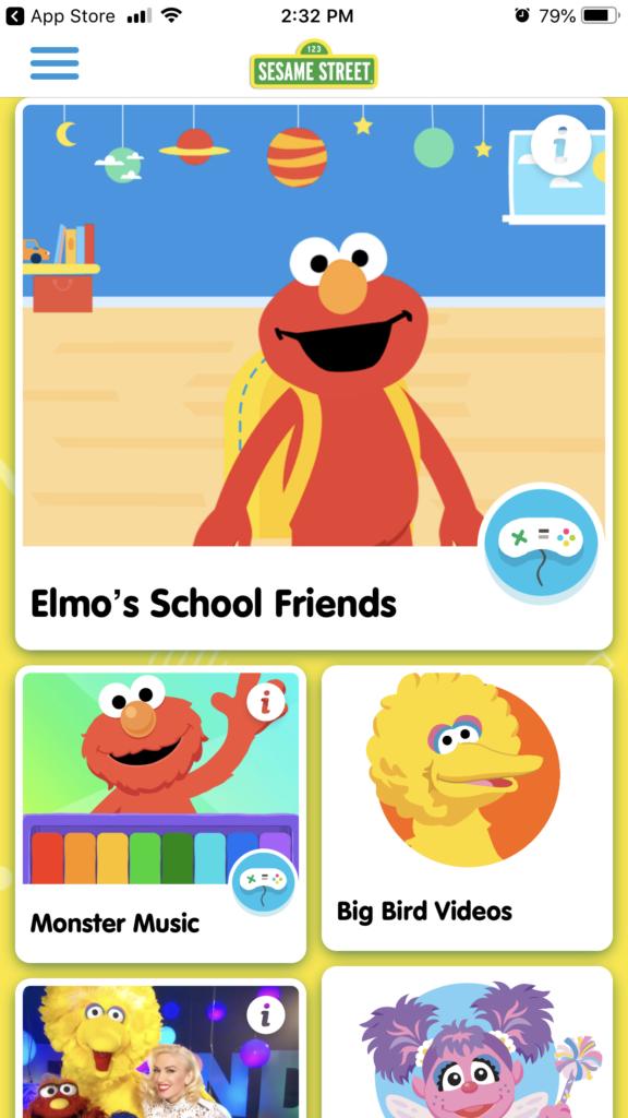 Sesame Street makes great apps for your preschooler