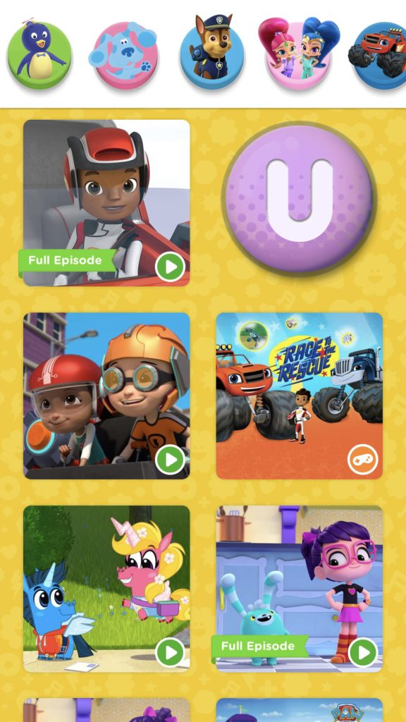 No need for YouTube when your kid's favorite characters can be found on the Nick Jr app