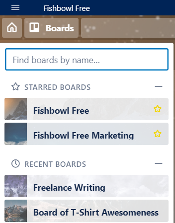 It's easy to switch to another board in Trello.