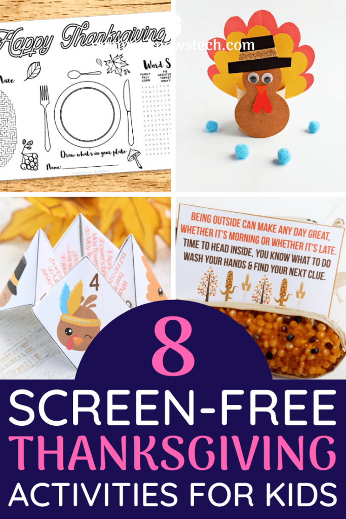 Looking to get the kids away from their screens and engaging with the family this Thanksgiving? Check out this list of fun screen-free Thanksgiving activities for kids!