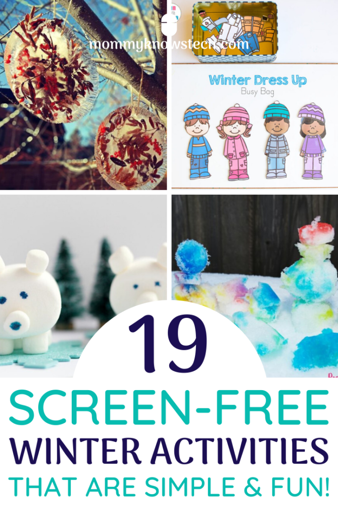 Winter weather got you and the kids feeling cooped up? This fun list of unique, creative, and easy winter activities will help you keep your kids occupied without screens... no matter how frightful the weather outside is!