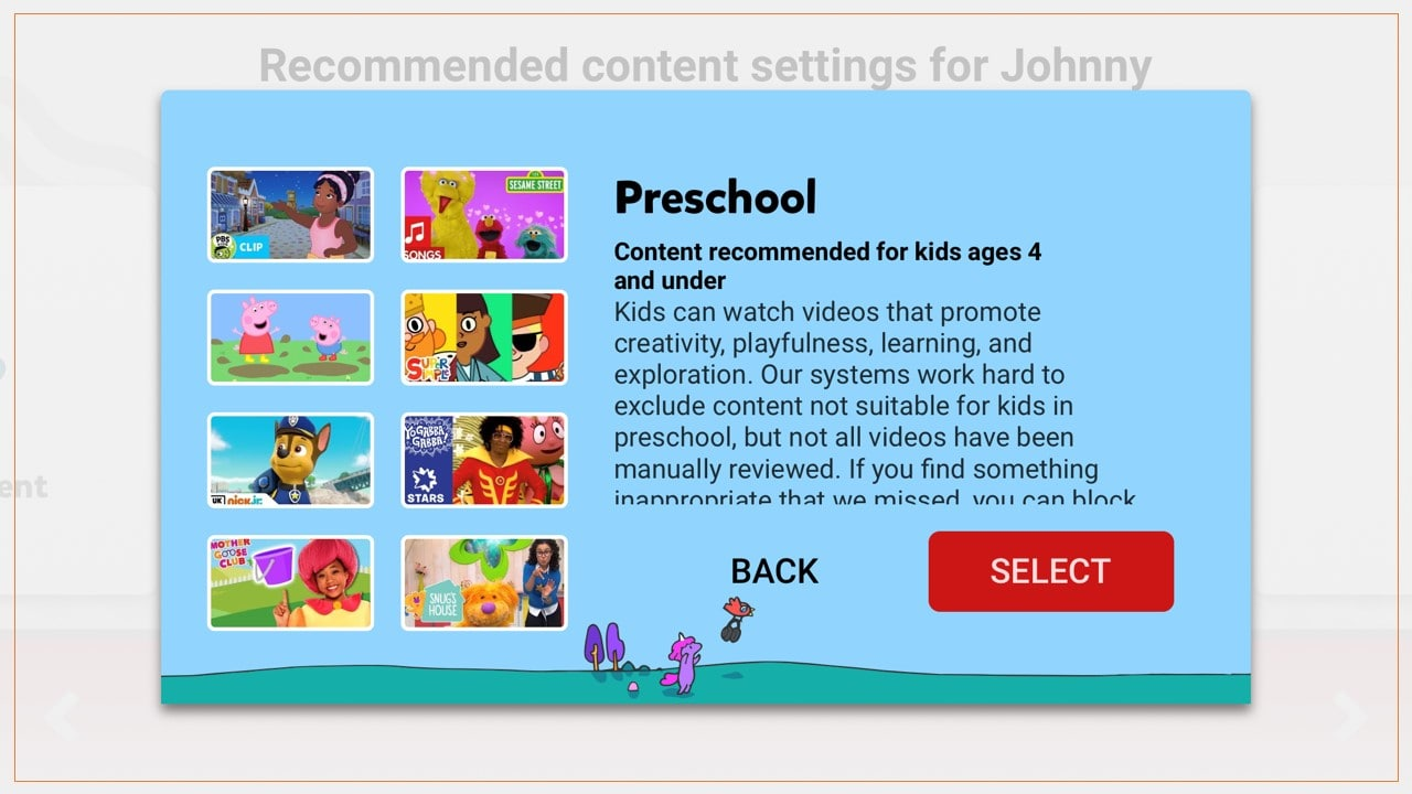 Your child may still be exposed to inappropriate content with the YouTube Kids app, even on the preschool setting.